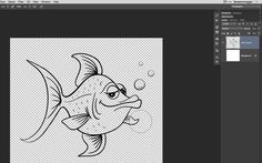 Painting with Transparent Pixels with a Wacom Tablet