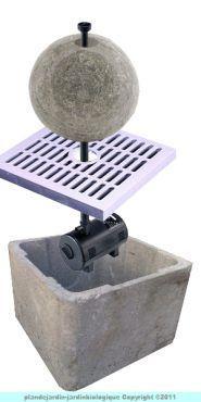3 mani res de fabriquer une fontaine wikihow bassin de jardin jardin d 39 eau fontaine zen. Black Bedroom Furniture Sets. Home Design Ideas
