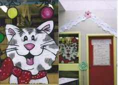 Christmas Window Painting and Door Christmas Windows, Window Art, Canvas Paintings, Clock, Classroom, Decorations, Ideas, Home Decor, Style