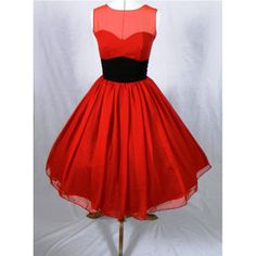Ruby Red Chiffon Dress