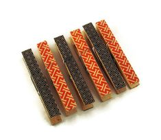 Altered Clothes Pins Decorative Clothespins  by funkychickendesign, $5.00