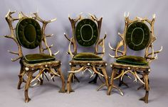 The Grand Budapest Hotel decor by artfour - antler chairs