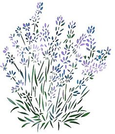 Lavender Stencil -  Inspiration for watercolor  ;)