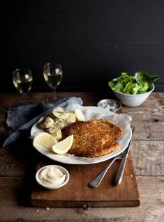 Crumbed chicken breast with herbs, lemon and Parmesan Photography Samantha Linsell  DrizzleandDip.com #foodstyling #recipes