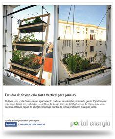 Estúdio de design cria horta vertical para janelas