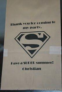 super hero loot bags!