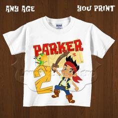 Jake and the Neverland Pirates Birthday Iron On PRINTABLE Image, Jake Party Image, Printable Birthday Party Shirt Design - YOU PRINT on Etsy, $5.99
