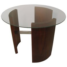 Mid-Century Cocktail or Side Table in the Manner of Kagan | From a unique collection of antique and modern coffee and cocktail tables at https://www.1stdibs.com/furniture/tables/coffee-tables-cocktail-tables/