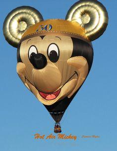 Mickey balloon celebrating Disneyland's 50th anniversary.