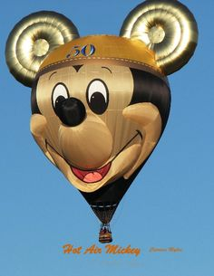 Mickey balloon celebrating Disneyland's 50th anniversary.