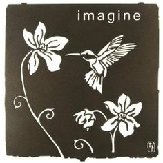 """12"""" Lazart Metal Wall Art Wall Decor - Imagine by Laser Wall Art & Home Décor. $43.16. Easy hang hooks located on the back of the art piece. Laser Cut Metal Wall Art. Made in the U.S.A. -Laser cut cold rolled steel wall art designed by Bindrune Design. -Espresso finish. -Indoor/outdoor capable. -Made in the USA. -Laser cut from cold rolled steel, these wall art pieces are hand finished in beautiful color mosaics or acid washed to achieve a finish that is elegant and..."""