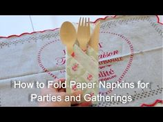 How to Fold Paper Napkins For Parties and Gatherings - uTry.it: How to Fold Paper Napkins For Parties and Gatherings Decoupage Glass, Paper Napkins For Decoupage, Paper Napkin Folding, Folding Napkins, Origami, Hanging Paper Lanterns, Diy And Crafts, Paper Crafts, Party Napkins