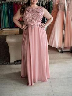 Prom Dress For Teens, A-Line/Princess Bateau Sleeveless Beading Floor-Length Chiffon Plus Size Dresses cheap prom dresses, beautiful dresses for prom. Best prom gowns online to make you the spotlight for special occasions. Discount Prom Dresses, Cheap Homecoming Dresses, Pink Prom Dresses, Bridesmaid Dresses, Bride Dresses, Dress Prom, Long Dresses, Cheap Semi Formal Dresses, Inexpensive Prom Dresses