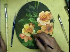 Gary Garrett Painting Demo - Wild Flowers and Bee 8x10 oval