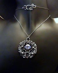 Mystique Blue - Fine Silver Pendant
