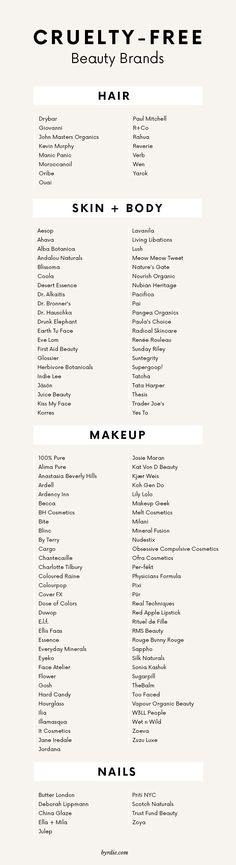 The best cruelty-free beauty brands for hair, skin, makeup and nails. #haircareannan,