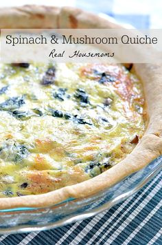 Spinach and Mushroom Quiche #BrunchWeek