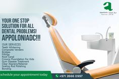 Appoloniadc treats and corrects every dental problem and disease with great effect! We are your one stop solution to ensure perfect oral health!