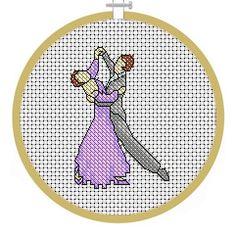 Ballroom Dancing, PDF Cross Stitch Patterns - Instant Download