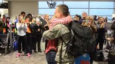Watch airline passengers help serviceman pull off surprise proposal