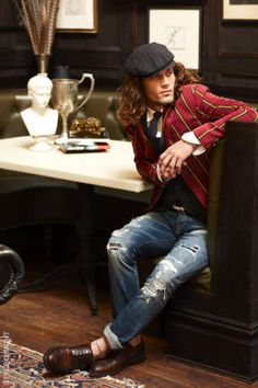 love. #men #clothing #fashion #blazer #hat #him