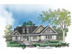 Eplans Bungalow House Plan - Rustic Yet Refined - 2137 Square Feet and 3 Bedrooms from Eplans - House Plan Code HWEPL07336