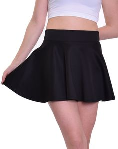 "Black Skater Skirt (~15.5"" Length)"
