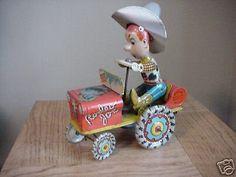 Vintage Unique Art Rodeo Joe Tin Wind Up Toy Cowboy in Toys & Hobbies, Vintage & Antique Toys, Wind-up Toys Antique Toys, Vintage Toys, Vintage Antiques, Toy 2, Tin Toys, Classic Toys, Rodeo, Unique Art, Christmas Ornaments