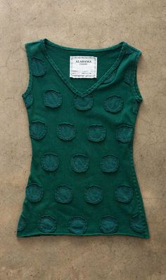 Tank with embellishments applique