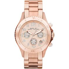 Marc Jacobs Women's Rock MBM3156 Watch...Gorgeous Rose Gold Finish | Overstock.com