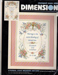Stamped Cross Stitch Samplers | Dimensions Stamped Cross Stitch Wedding Sampler by wysrwmn on Etsy, $5 ...