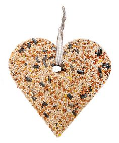 Look at this #zulilyfind! Heart Bird Seed Feeder Ornament #zulilyfinds