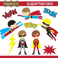 superhero clipart digital clip art super hero boys - Super Boys ...