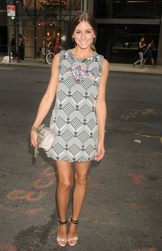 Olivia Palermo attending Valentino Gorgeous sandals