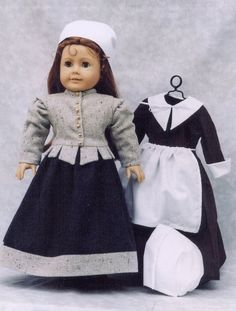 We Gather Together - Vintage Pilgrim Dress Pattern for 18 Inch American Girl Doll - TLC-0008. $8.94, via Etsy.