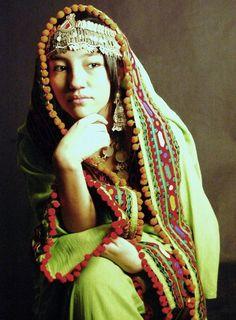Beautiful dress of a Hazara girl - Afghanistan.