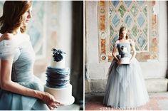 Shades of blue and lavender / Sareh Nouri Bridal Couture / Laura Gordon Photography / via StyleUnveiled.com