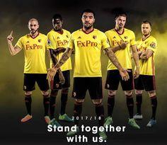 e5badf26a8d Un nuevo patrocinador debuta en la Primera Equipacion Camiseta Watford 2017-2018  baratas en forma