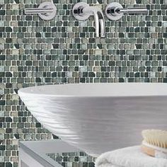 Jewel Tide Silver Shore 12 in. x 12 in. Glass Mosaic Wall Tile. 5/8 in. x Random Mosaic Pieces.