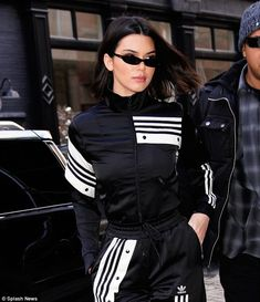 Kendall Jenner poses with Hailey Baldwin at Adidas event   Daily Mail Online