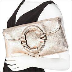 Sigrid Olsen Handbags - Metallic Pebble Clutch (Rose Gold)