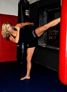 "Maegan ""Mayhem"" Goodwin #mma #fighter #girl #training #kick"