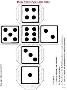 Free Printable Letter Dice