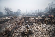 Haunting images from a city destroyed by wildfire