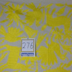 "Mexican Textile, Bedspread / Tablecloth ,Otomi fabric 100% cotton 78.5x74"" #276"