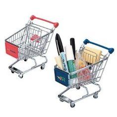 Mini grocery cart desk accessory