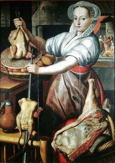 Pieter Aertsen (Dutch Northern Renaissance Painter, c Martha Preparing Dinner Cooking birds Renaissance Clothing, Renaissance Art, Italian Renaissance, Juan Sanchez Cotan, Oil On Canvas, Canvas Prints, Beauvais, Artistic Installation, Dutch Artists