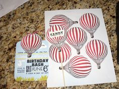 I created these hot air balloon themed party printable and invitations for my blog but wanted to share them with you.