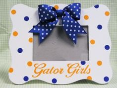 Gators...fathers day idea with pix of the girls in their cheerleading outfits for craig
