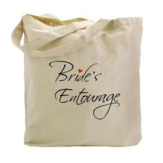 ElegantPark Bride`s Entourage Tote Bag Natural Canvas 100% Cotton *** Check out this great image